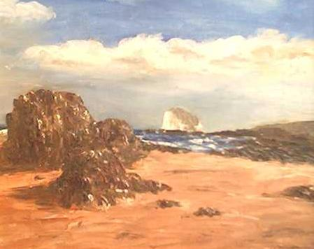 North Berwick East Beach and the Bass Rock by Tom Davidson